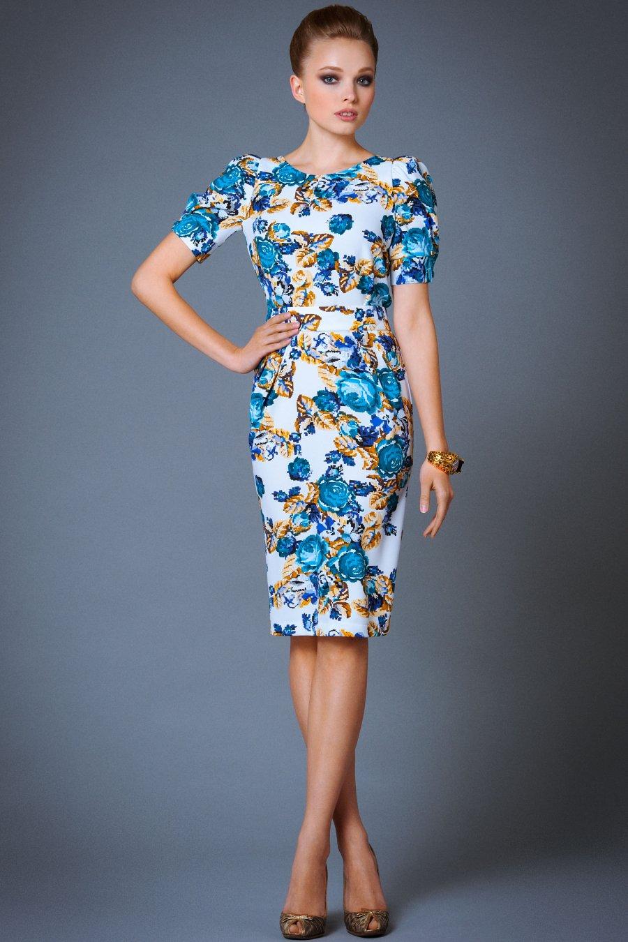Платья с цветочным принтом: 35 фото. С чем носить платья с 16